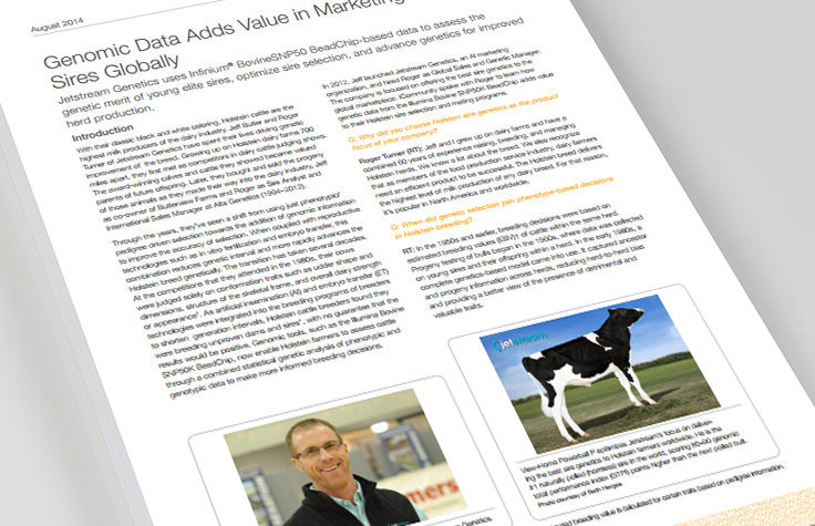Genomic Data Adds Value in Marketing Holstein Sires